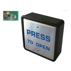 Wireless stainless steel switch including transmitter & mounting box