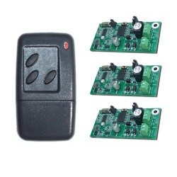 JWS 3 Channel Handheld Transmitter Key Fob and 3 Receivers