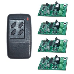 JWS 4 Channel Handheld Transmitter Key Fob and 4 Receivers